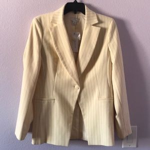 New cream with black stripes Topshop jacket